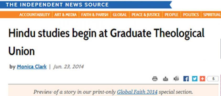 Hindu studies begin at Graduate Theological Union