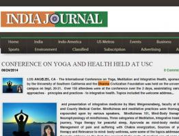 Conference on Yoga and Health Held At USC