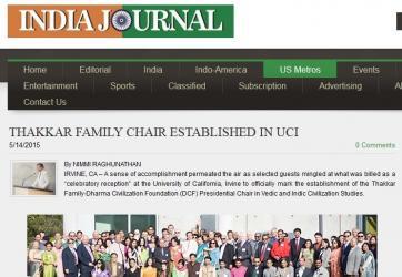 Thakkar-DCF Family Chair Established in UCI