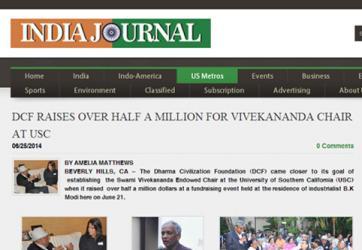 DCF Raises Over Half a Million For Vivekananda Chair at USC