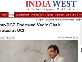 Thakkar-DCF Endowed Vedic Chair Celebrated at UCI